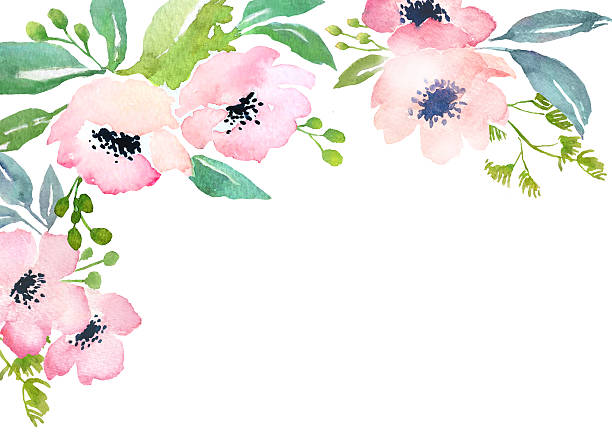 royalty free watercolor flowers clip art vector images