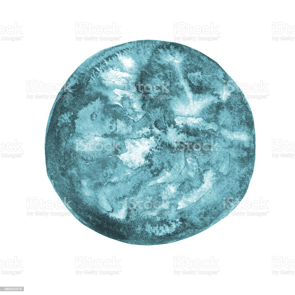 Watercolor round spot isolated royalty-free watercolor round spot isolated stock vector art & more images of abstract