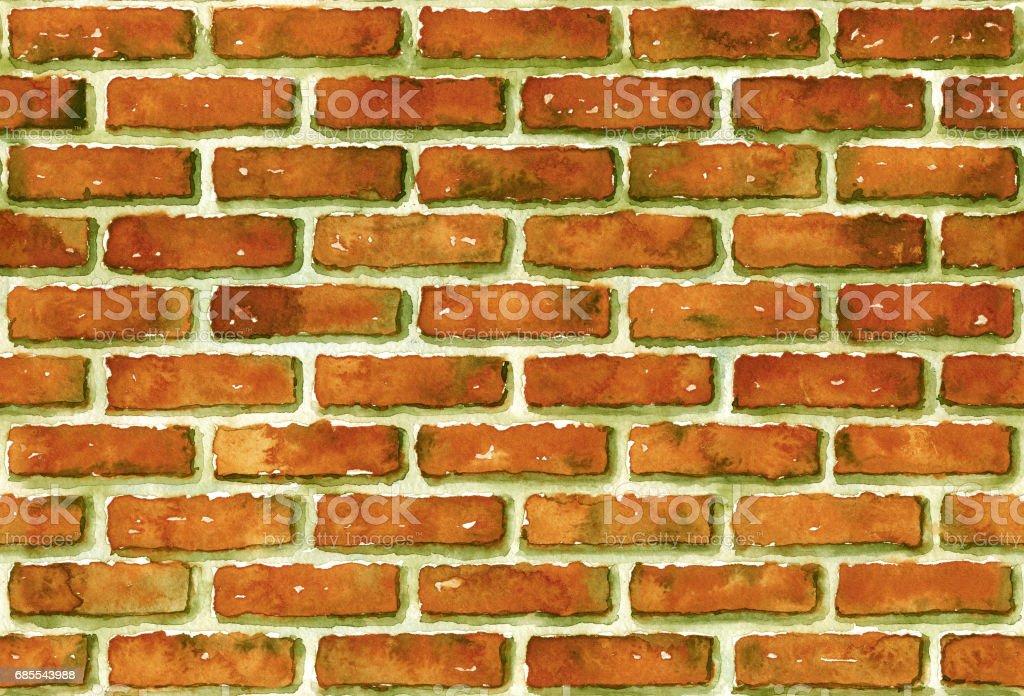 Watercolor seamless brick wall pattern. royalty-free watercolor seamless brick wall pattern 0명에 대한 스톡 벡터 아트 및 기타 이미지