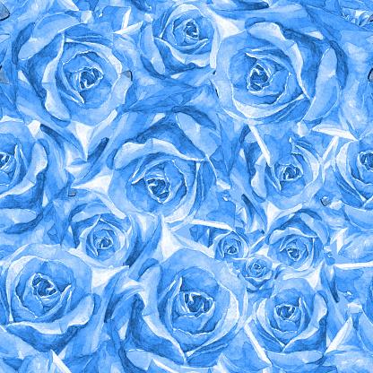 워터컬러 이음새 없는 패턴 하얏트는 개화기에 대한 스톡 벡터 아트 및 기타 이미지