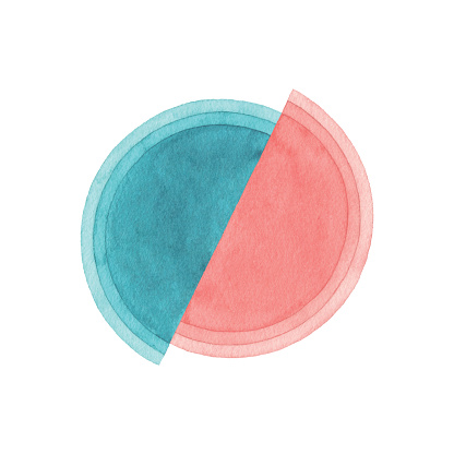 Watercolor Semi-Circles Background