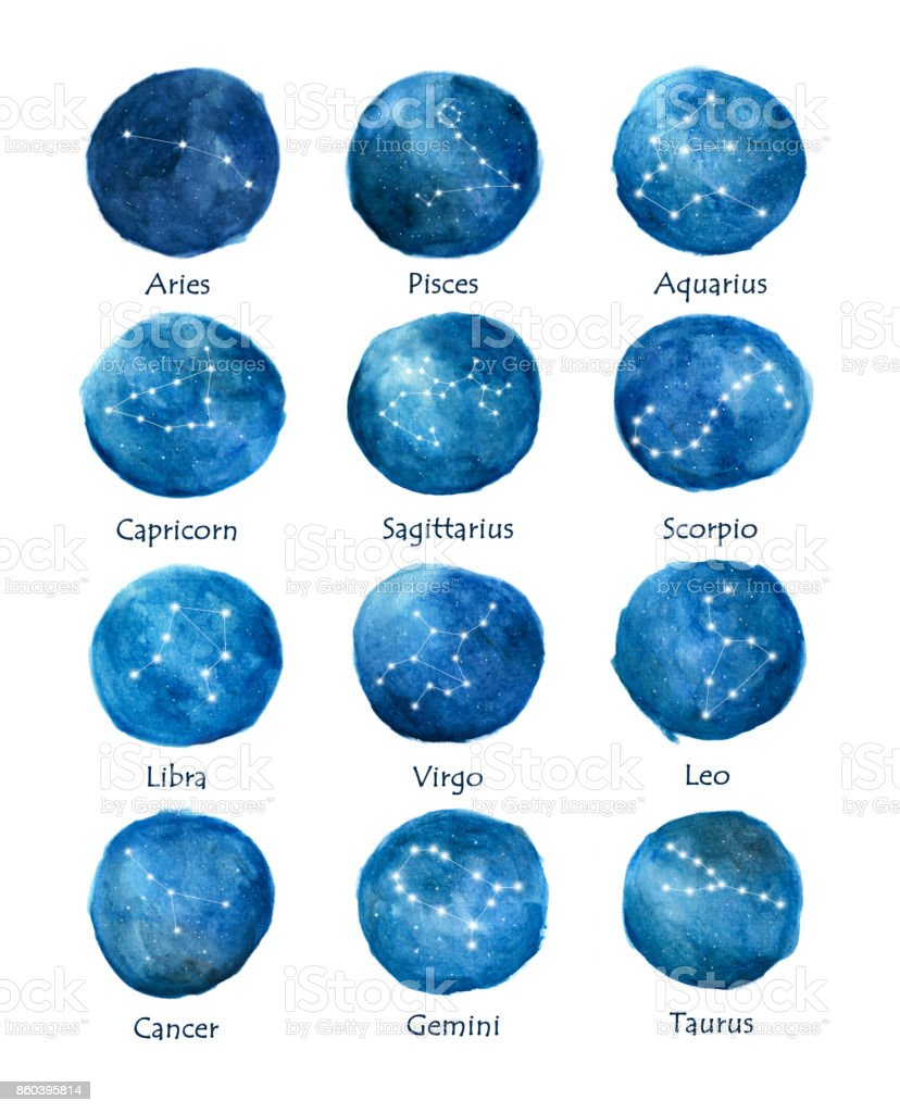 Watercolor set of zodiac signs round zodiac symbols on watercolor watercolor set of zodiac signs round zodiac symbols on watercolor texture royalty free buycottarizona