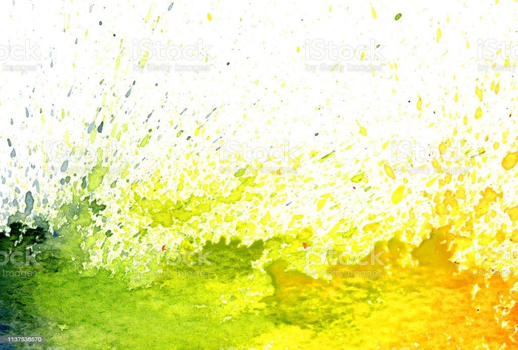 watercolor splashes vector art illustration