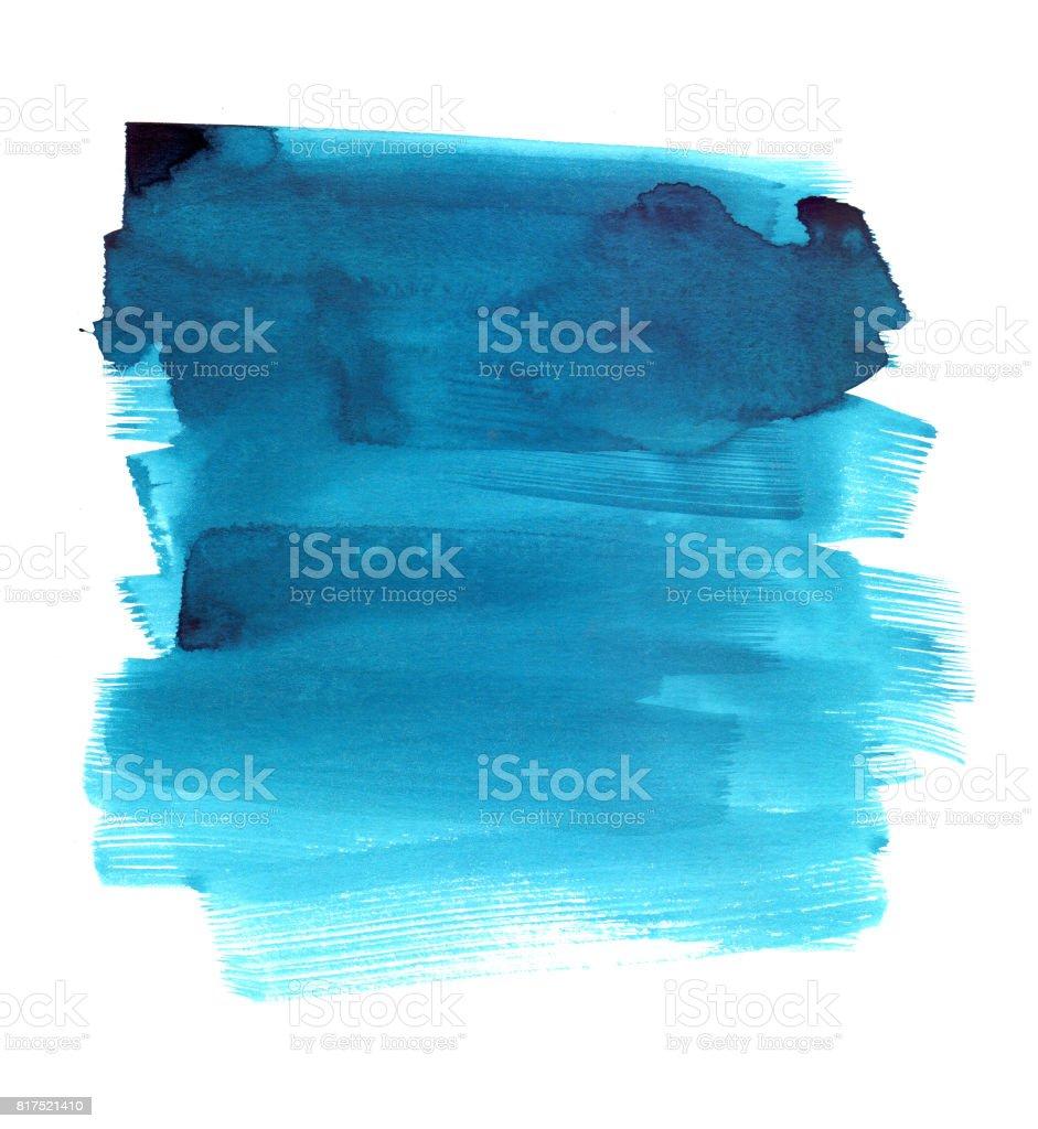 Watercolor stroke texture vector art illustration