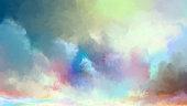 istock Watercolor summer sky 1202026321