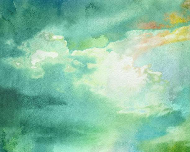 illustrations, cliparts, dessins animés et icônes de watercolor thundercloud - arrière plans de nature