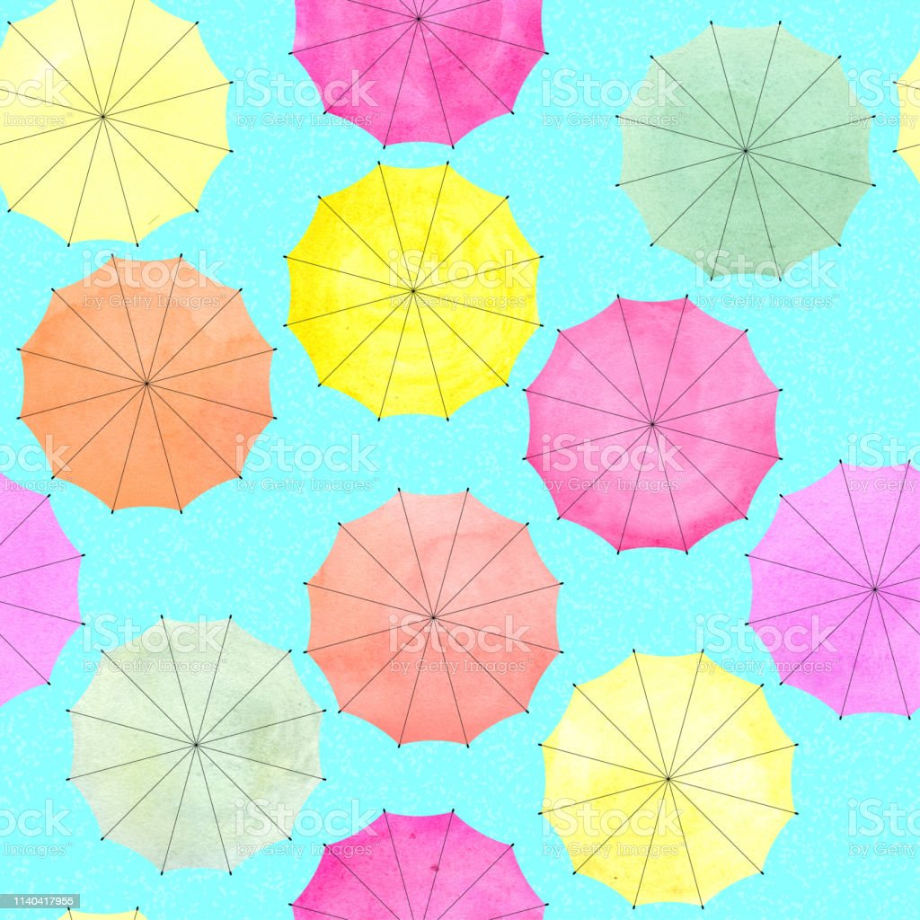 image about Umbrella Pattern Printable Free referred to as Watercolor Umbrella For Print Layout Attractive Habit
