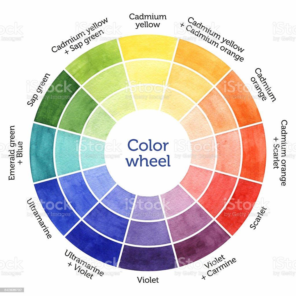 Watercolor Wheel Stock Vector Art 542836732 Istock