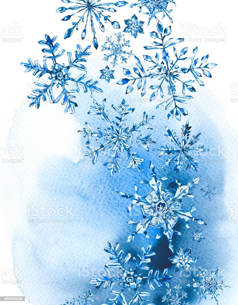 Watercolor winter greeting card with snowflakes stock vector art watercolor winter greeting card with snowflakes royalty free watercolor winter greeting card with snowflakes stock m4hsunfo