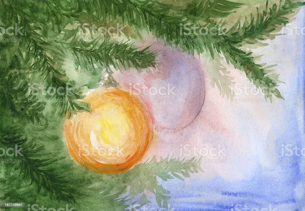 Watercolour christmas background royalty-free stock vector art
