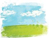 istock Watercolour field 167590899
