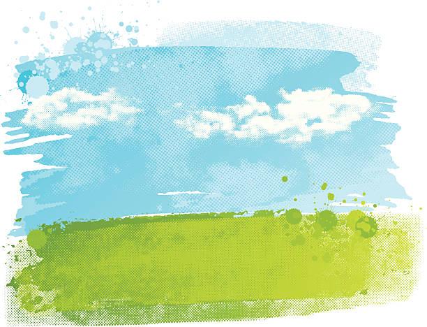 watercolour フィールド - 空点のイラスト素材/クリップアート素材/マンガ素材/アイコン素材
