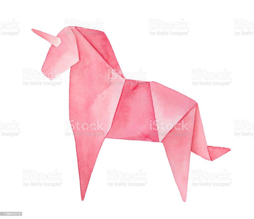 Origami Unicorn – Origami Tutorials | 882x1024
