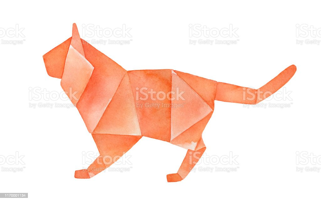 How to make a paper Tiger - Origami Tiger (tutorial) - YouTube | 644x1024