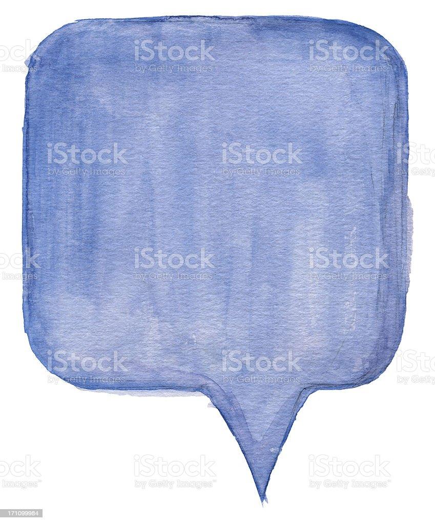 Watercolour Speech Bubble royalty-free stock vector art