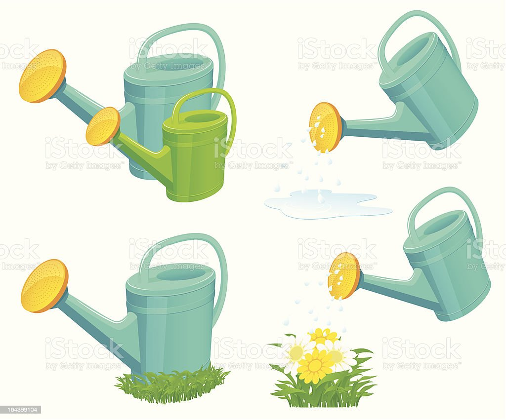 Watering-can set royalty-free stock vector art