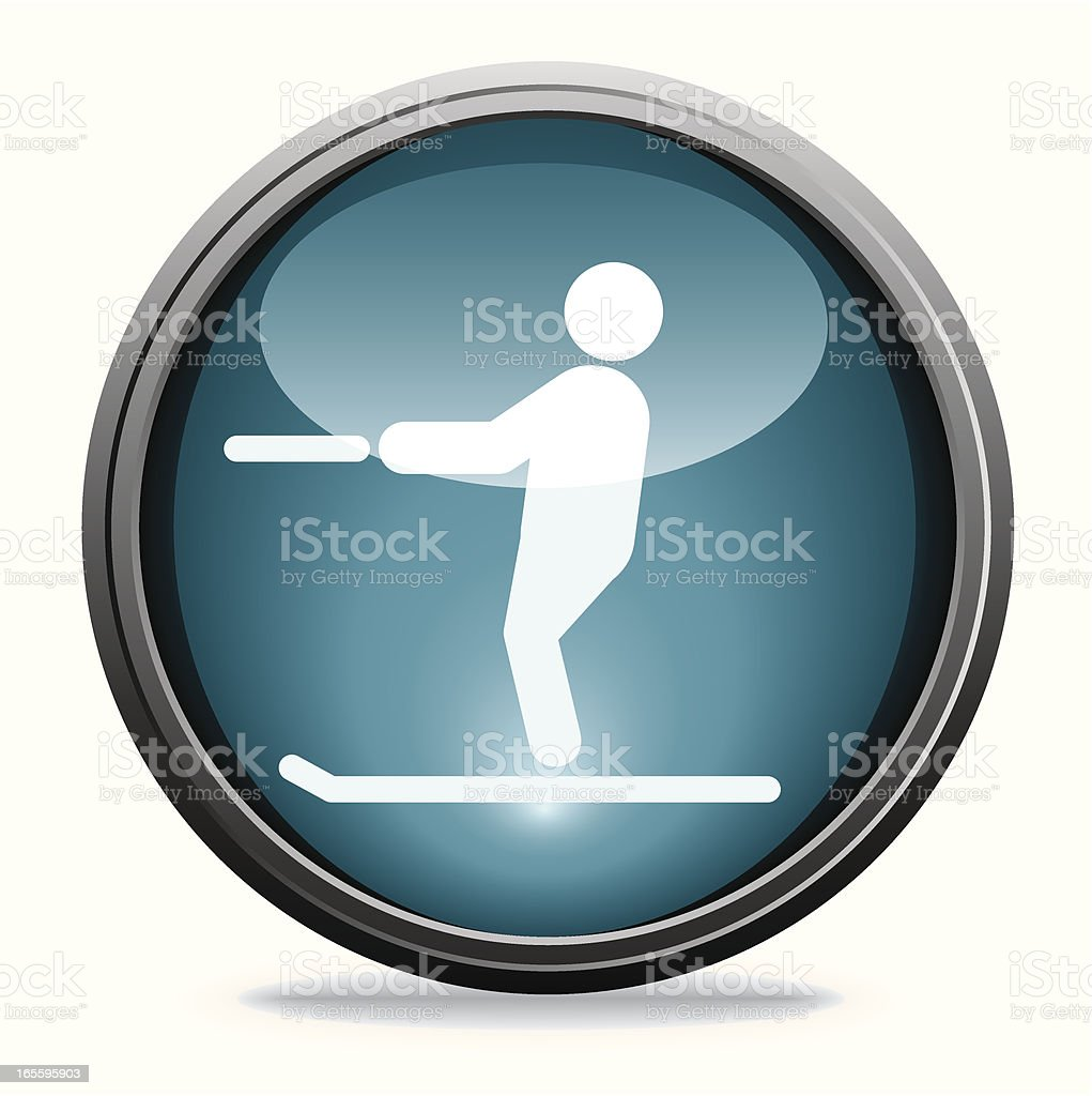 Waterskiing   Glass Collection royalty-free waterskiing glass collection stock vector art & more images of blue