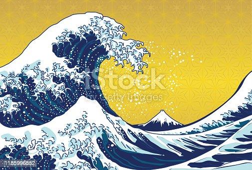 Designed based on public domain paintings from Katsushika Hokusai.
