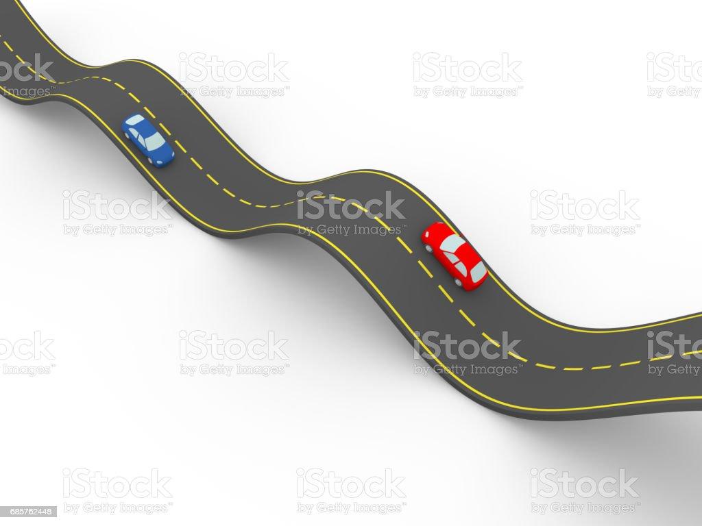 waved road waved road - immagini vettoriali stock e altre immagini di asfalto royalty-free