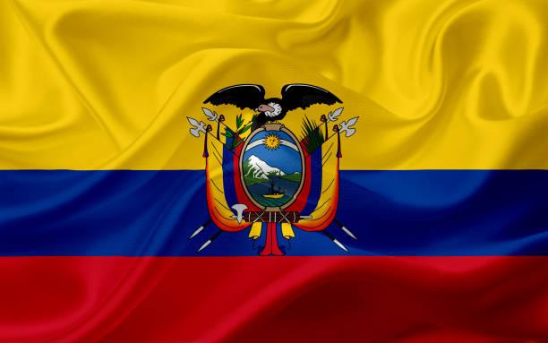 ilustraciones, imágenes clip art, dibujos animados e iconos de stock de bandera de ecuador con la textura de la tela - bandera de ecuador