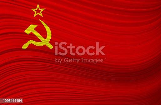 SOVIET UNION waving flag