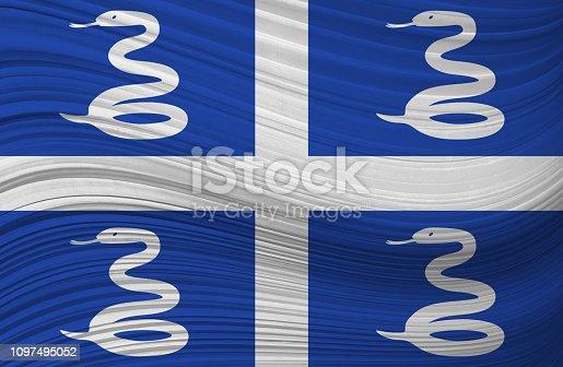 MARTINIQUE waving flag
