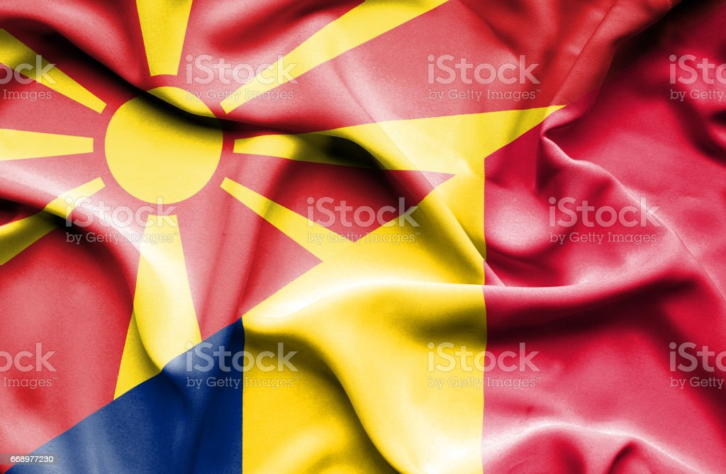 Waving flag of Chad and Macedonia waving flag of chad and macedonia - immagini vettoriali stock e altre immagini di accordo d'intesa royalty-free