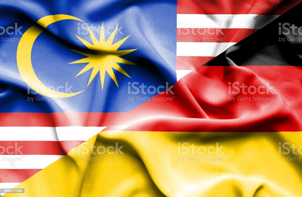 Waving flag of Germany and Malaysia waving flag of germany and malaysia - immagini vettoriali stock e altre immagini di accordo d'intesa royalty-free