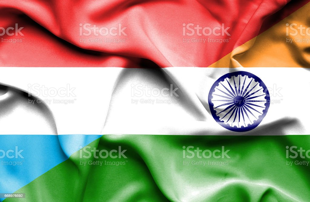 Waving flag of India and Luxembourg waving flag of india and luxembourg - immagini vettoriali stock e altre immagini di accordo d'intesa royalty-free