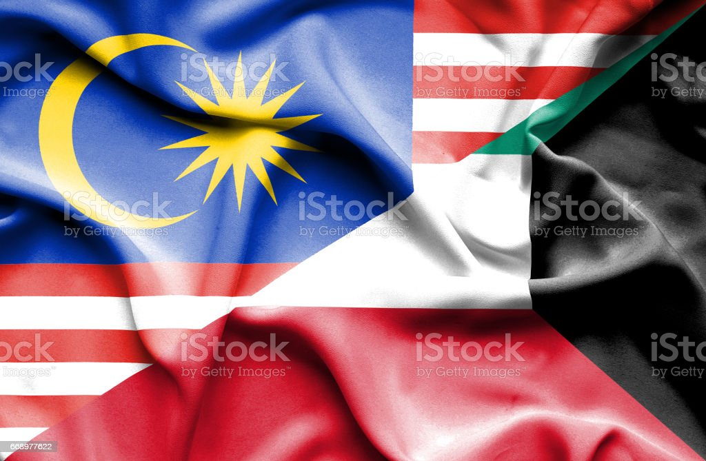 Waving flag of Kuwait and Malaysia waving flag of kuwait and malaysia - immagini vettoriali stock e altre immagini di accordo d'intesa royalty-free