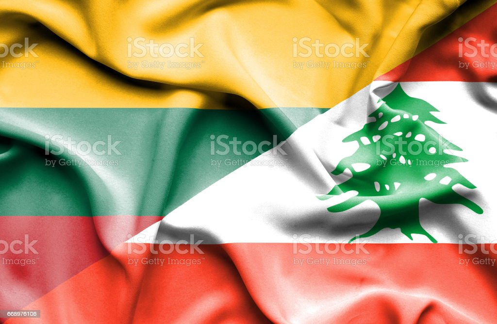Waving flag of Lebanon and Lithuania waving flag of lebanon and lithuania - immagini vettoriali stock e altre immagini di accordo d'intesa royalty-free