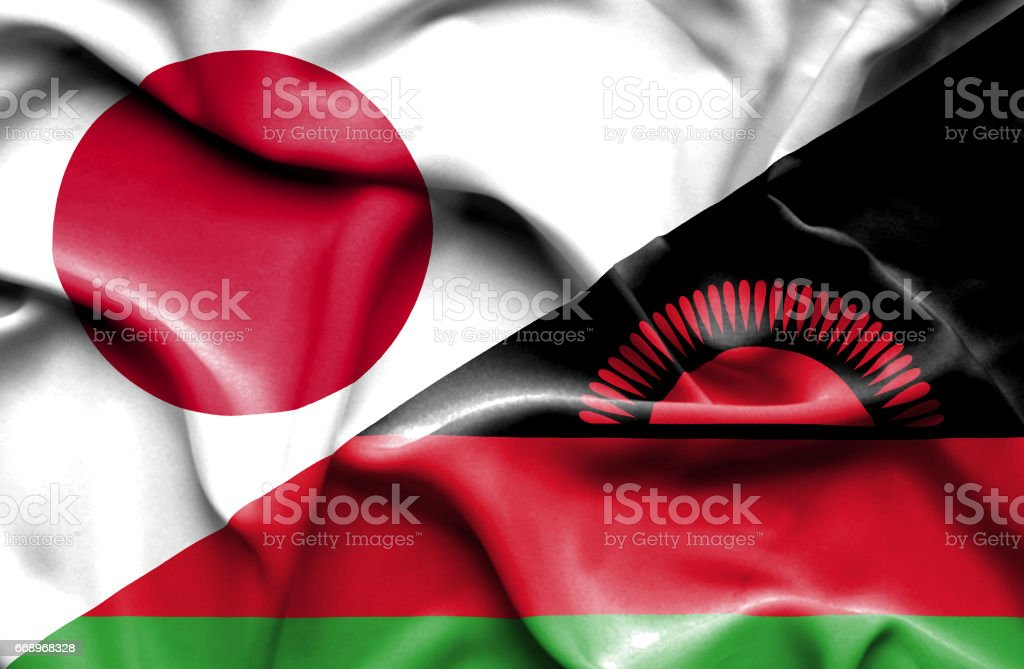 Waving flag of Malawi and Japan waving flag of malawi and japan - immagini vettoriali stock e altre immagini di accordo d'intesa royalty-free