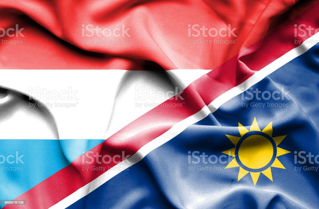 Waving flag of Namibia and Luxembourg waving flag of namibia and luxembourg - immagini vettoriali stock e altre immagini di accordo d'intesa royalty-free