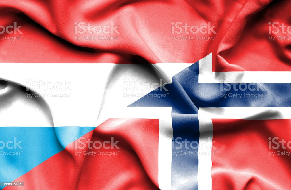 Waving flag of Norway and Luxembourg waving flag of norway and luxembourg - immagini vettoriali stock e altre immagini di accordo d'intesa royalty-free