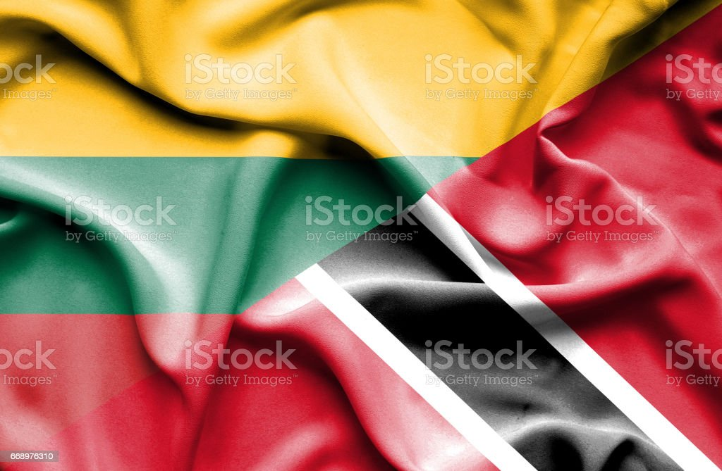 Waving flag of Trinidad and Tobago and Lithuania waving flag of trinidad and tobago and lithuania - immagini vettoriali stock e altre immagini di accordo d'intesa royalty-free