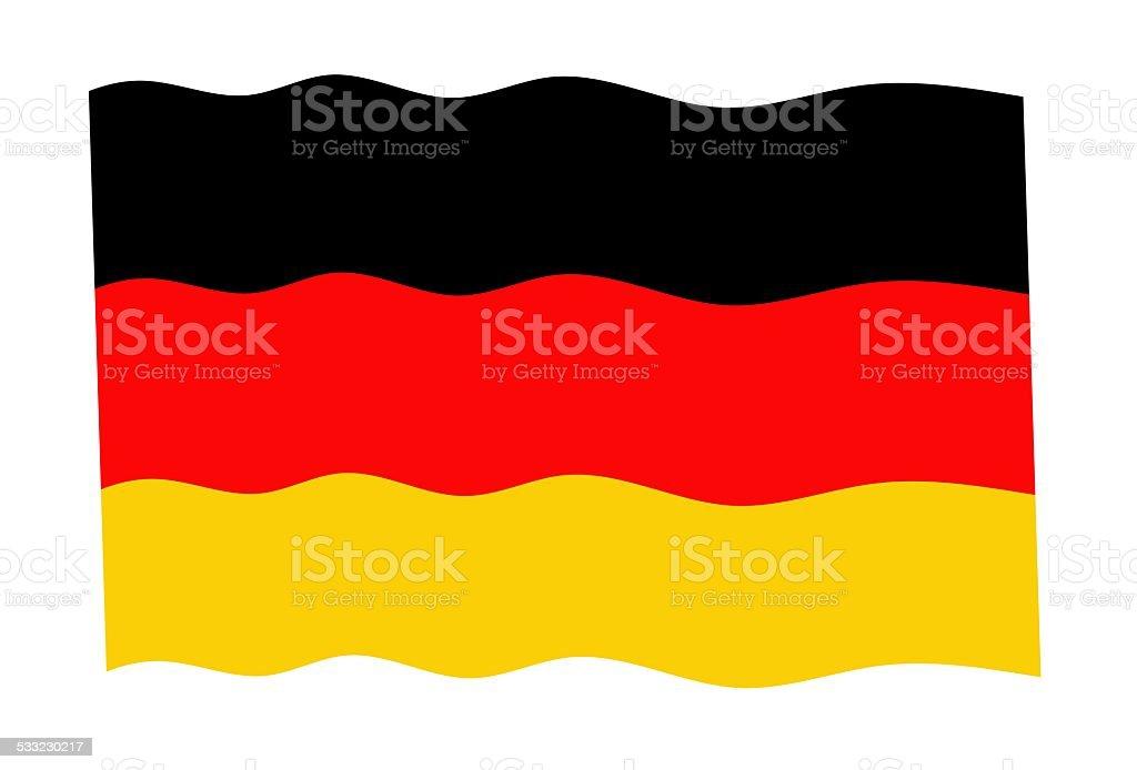 waving Germany flag vector art illustration