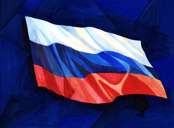 ilustraciones, imágenes clip art, dibujos animados e iconos de stock de ondeando la bandera rusa - bandera rusa