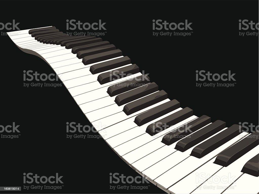 Wavy piano keys royalty-free wavy piano keys stock vector art & more images of abstract