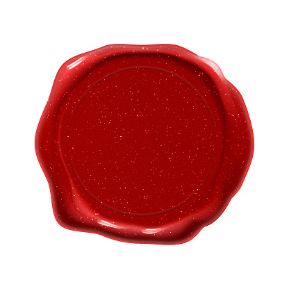 Wax seal stamp, guarantee certificate and quality red label