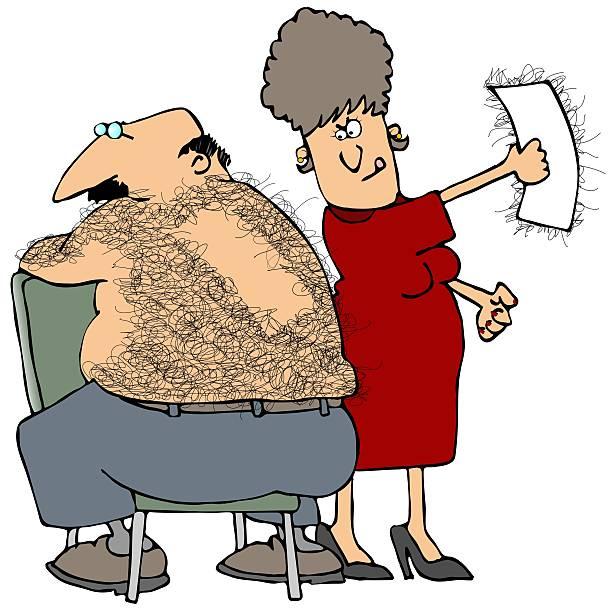ilustrações de stock, clip art, desenhos animados e ícones de cera de trás - puxar cabelos