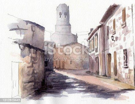 istock Way of Saint James in Galicia, Spain. 1312823443