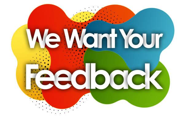 ilustrações, clipart, desenhos animados e ícones de queremos o seu feedback - feedback