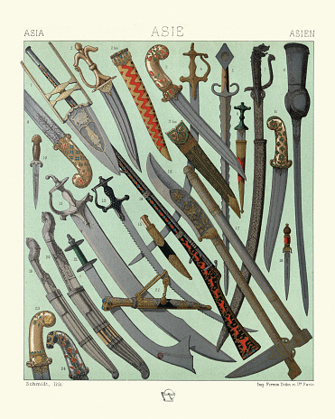 Weapons, Blades, Swords, Daggers, Sabre, Indian, Nepal, Persia, Turkey
