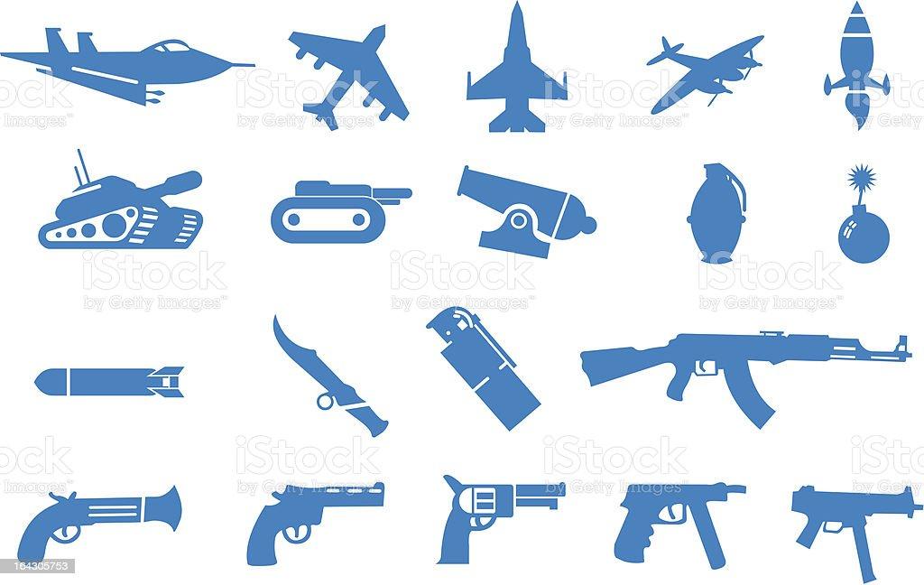 武器のアイコンセット ベクターアートイラスト