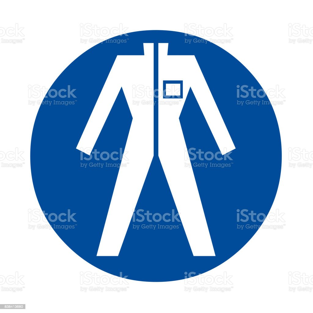Wear protective clothing safety sign vector art illustration