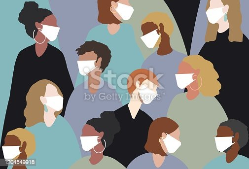 winter, virus, coronavirus, medical mask, face mask, china virus, group, people, women, man, sick, heat, people, hot