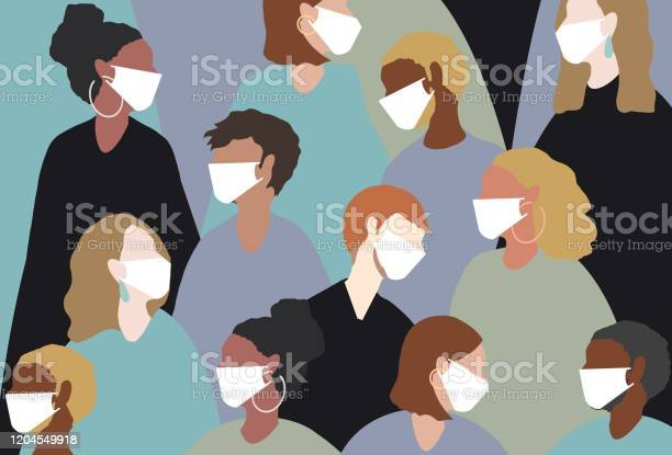 Wearing A Medical Face Mask For Winter Viruses Stock Illustration - Download Image Now