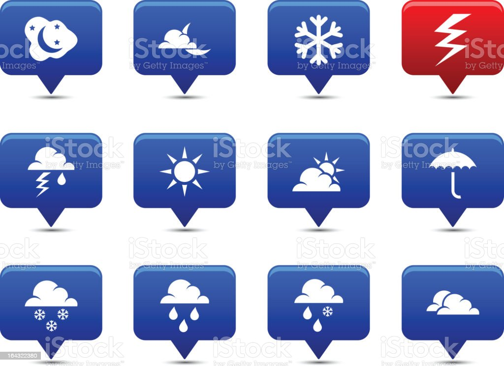 Weather  buttons royalty-free stock vector art
