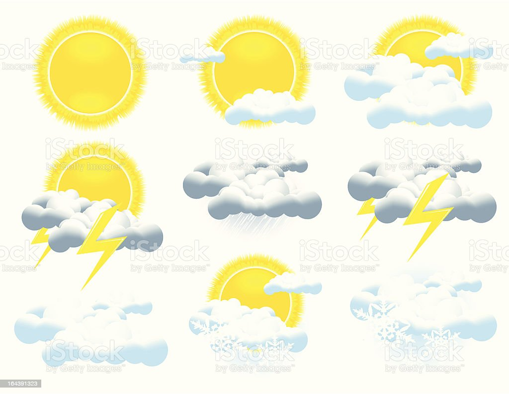 Weather icon collection royalty-free stock vector art