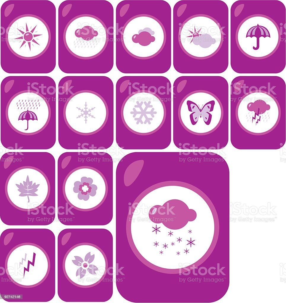 Weather Icon Set royalty-free weather icon set stock vector art & more images of butterfly - insect
